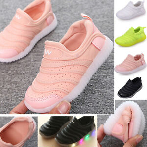 Children LED Sneakers Trainers Kids Toddler Baby Boys Girls Sport Running Shoes