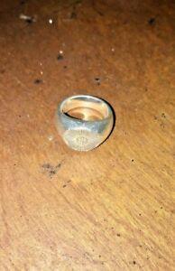 Good Art Hlywd Rosette Sunburst Signet Ring - Sterling Silver