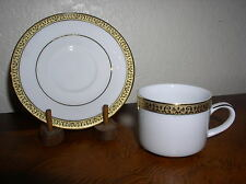 Gold Buffet by Royal Gallery  Demitasse Cup & Saucer Set - White with Gold Trim