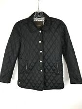 COACH Women's Black Diamond Quilted Patterned Snap Closure Coat Jacket Size XS