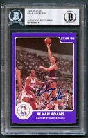 Alvan Adams #35 signed autograph auto 1985-86 Star Basketball Card BAS Slabbed