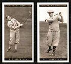2 X 1927 BOBBY JONES CHURCHMAN FAMOUS GOLFERS GOLF CIGARETTE CARDS EXCELLENT