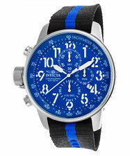 Invicta 46mm I Force 22847 Lefty Chronograph Leather Strap Watch,Mop New