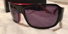 Silver Dagger sunglasses BOLT black & red C2 plastic size 62x17 W/Hard Case NEW