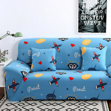 Printed Sofa Slipcovers Stretch Couch Sofa Cover 1 2 3 4 Seater & 2 Pillow Cases