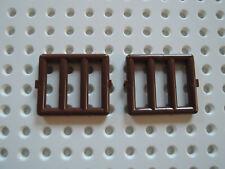 1x Lego Tür rot braun 1x4x6 Fenster Gitter verdreht schwarz 30045 4561915 64390