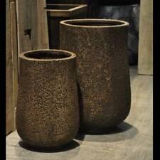 Plant Pots Planters Garden Flower Indoor Outdoor Pairs Art Modern Bronze TB0110
