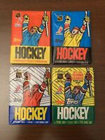 1987-88-89-90 Lot(4)Topps Hockey Wax Packs Cards-Robitaille-Brett Hull-Sakic-RC?