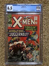 X-Men #12 CGC 6.5 OW Pages Origin & 1st Juggernaut Origin Professor X!! 🔥🔑