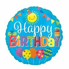 Happy Birthday Sun And Balloons 43cm Foil Balloon Party Supplies