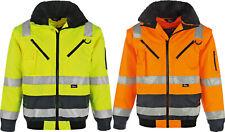 Vizwell Warnschutz Pilotenjacke 4in1 Winterjacke wind- wasserdicht gelb orange