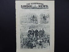 Illustrated London News Cover S8#09 Dec 1887 The Address in the Queen's Hall