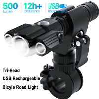 Rechargeable LED Bike Lights Set Front Flashlight Mountain Bicycle Accessories