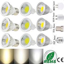 MR16/GU10/E27/E14 Dimmable 6W 9W 12W LED COB Spot Light Bulbs Lamp Ultra Bright