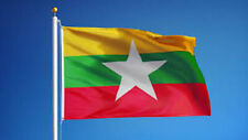 NEW MYANMAR (BURMA) 3x5ft FLAG superior quality fade resist us seller