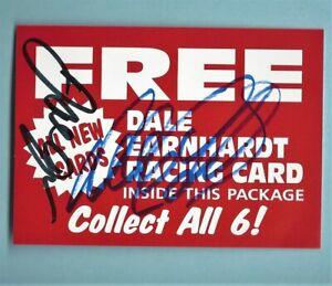 DALE EARNHARDT SR & DALE EARNHARDT JR  - DUAL  AUTOGRAPHED - Coupon       [f10]