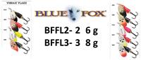 BLUE FOX VIBRAX® FLAKE Spinners 6g - 8g Various Colours