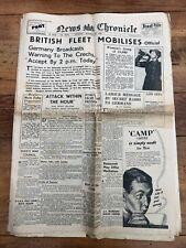 More details for original - news chronicle september 28 1938 ( british fleet mobilises )