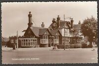 Postcard Worthing Sussex the Thomas a Becket Hotel pub signs vintage RP Wardell