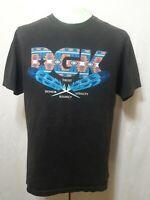 Vintage DGK T-Shirt Black Tribal/Native Letterway Mens Size Large EUC