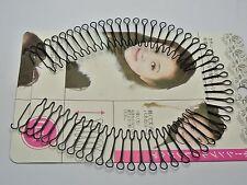 5 Pcs Black Fringe Invisible Hair Clip Comb Hairpin Bobby Pin Headband 30cm