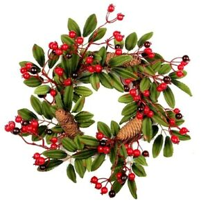 Christmas Hanging Wreath Decorative Pine Cone Ornaments For Door Window Decor