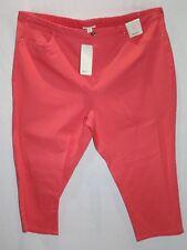 BEME Brand Women's Coral Coloured Capri Jeans Size 26 BNWT #LIN