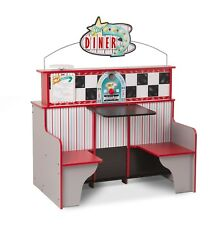 Melissa Doug Kitchen Toy Set Pretend Play Kids Star Diner Restaurant Wooden