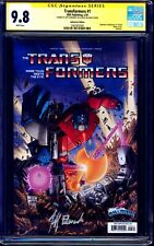 Transformers #1 GalaxyCon Variant CGC SS 9.8 signed Jeff Edwards NM/MT