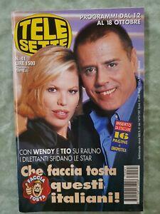 83) TELESETTE ITALIAN MAGAZINE N 41/1997 WENDY WINDHAM CLOONEY GALLAGHER TEOCOLI