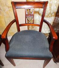 Armlehn Stuhl Sessel Sitz Möbel Edelholz antik Biedermeier Barock Rokoko