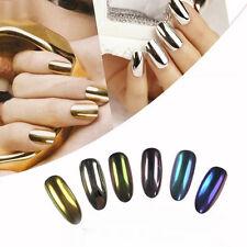 Nail Art Chameleon Mirror Glitter Powder Eye Shadow Laser Gold Silver Manicure