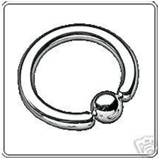 CAPTIVE BEAD RING 14g x 14mm CBR BCR OUTER LABIA GENITAL FEMALE NIPPLE PIERCING