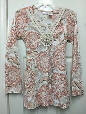 No Boundaries Unique And Eye-Catching Stretch Fit Shirt Top  Size Juniors 7 - 9