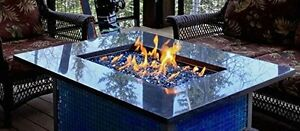 "1/4"" Reflective Fireglass Fireplace Glass Rocks Fire Pit Glass Crystals"