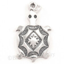 TURTLE SOUTHWESTERN Native American Indian Charm Pendant 925 STERLING SILVER