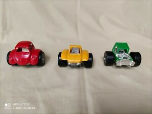 3 Vintage Structo 2 Two Wheeled Hot Rods Diecast & Plastic Toy Car USA 1971?