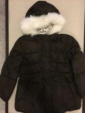 Crazy 8 Girls Hooded Coat/Jacket, Size XS/4, Dark Brown, Faux Fur, Hood