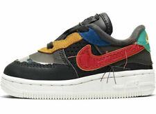 Nike Air Force 1 (TD) BHM QS Toddler Shoes CV2416 001 Black History Month