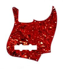 (B55) 4 Ply Guitar Pickguard For Jazz Bass JB ,Tortoise Red
