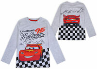 Boys Lightning McQueen Cars Top Long Sleeve Cotton T-shirt Ages 2 3 4 5 6 Years