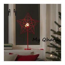 IKEA STRALA LED Table Lamp Star Red Christmas Holiday Decor NEW
