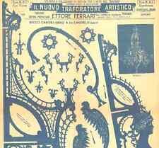 Disegno Drawings Fretwork Ettore Ferrari Candelabro 24 candele N° 5 Tavole DVD