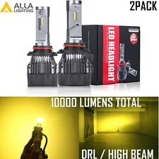 Alla Lighting 9005 LED Headlight High Beam Daytime Running Light Bulb DRL Yellow