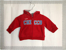Pull Sweat Gilet à Capuche Rouge Gris  Chicco Taille 6 mois Neuf