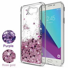 For Samsung Galaxy S8 S9 S10 N8 Case Glitter Liquid Quicksand Clear Soft Cover