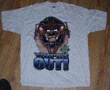 Milwaukee Brewers vtg 1996 TAZ Warner Bros. 'You're Out' T-Shirt men's TALL-XL