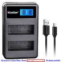 Kastar Battery LCD Dual Charger for Nikon EN-EL14a MH-24 Nikon D3100 DSLR Camera