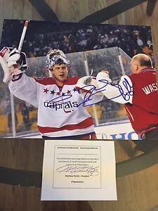Semyon Varlamov Bruce Boudreau Signed Winter Classic Capitals 11x14 PHOTO puck