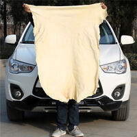 Natural Chamois Leather Car Cleaning Cloths Washing Suede Absorbent Towel IJ